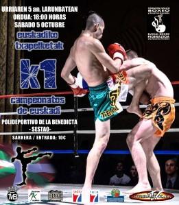 Cartel Ctos. Euskadi K1 2013